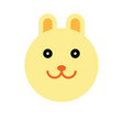 rabbit cartoon animal head vector image