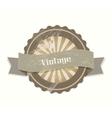 Blank retro vintage labels vector image