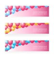 Holiday birthday banners with balloons vector image