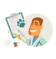 pet vet veterinary doctor animal veterinarian vector image