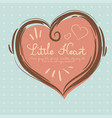 a beautiful heart is drawn by hand in a valentine vector image