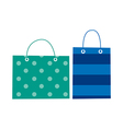 A pair of shopping bags vector image vector image
