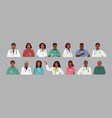 african american medics medical characters vector image vector image