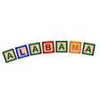 alabama wooden block letters vector image vector image
