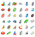analytics and statistics icons set isometric vector image vector image