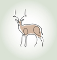 Antelope gazelle in minimal line style vector image vector image