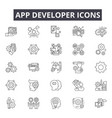 app developer line icons for web and mobile design vector image vector image