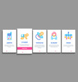 baclothes and tools onboarding elements icons vector image vector image