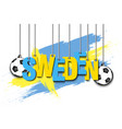 banner the inscription sweden vector image vector image
