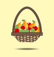 Basket with fruit vector image