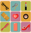 Beauty and fashion icons vector image vector image
