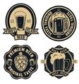 beer labels Vintage craft beer retro design vector image vector image