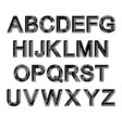 black alphabet set vector image vector image