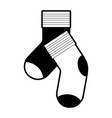 black sections silhouette of pair of socks vector image