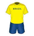 Brazil dres resize vector image vector image