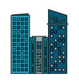 building commercial business skyscraper vector image vector image