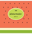 Card template design with watermelon vector image vector image