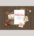card with festive card vector image vector image
