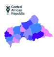 Central African Republic vector image vector image