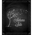 chalkboard autumn tree vector image vector image