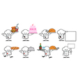 Chef Hat Guy Cartoon Mascot Characters-Collection vector image vector image