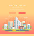 city life - modern vector image vector image