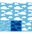 clouds seamless vector image vector image