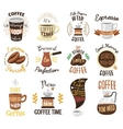 Coffee time badges set vector image