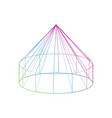 color yurt icon on the white background vector image vector image