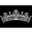 Diadem with pearls vector image vector image