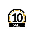 discount card with 10 percent sale advertising vector image