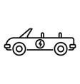 electric cabriolet car icon outline style vector image vector image