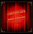 elegant template certificate diploma vector image vector image