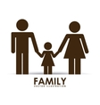 family happy vector image vector image