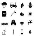 farm icon set vector image vector image