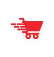 fast cart graphic icon design template vector image vector image