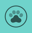 flat icon on background dog trail vector image
