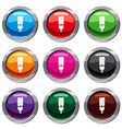 fluorescent bulb set 9 collection vector image vector image