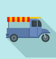 food bike icon flat style vector image