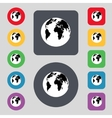 Globe sign icon World map geography symbol Set vector image