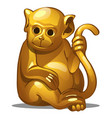 golden figure of monkey chinese horoscope symbol vector image vector image
