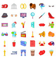 good cinema icons set cartoon style vector image vector image