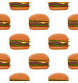 hamburger colored drawing as seamless pattern vector image