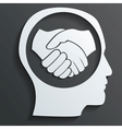 handshake in the head vector image vector image