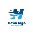 hawk logo designs vector image