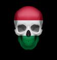 Hungarian flag skull vector image