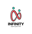 infinity two man or people logo design inspiration vector image