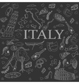Italy line art design vector image vector image