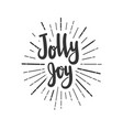 jolly joy christmas wishes lettering in doodle vector image