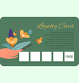 loyalty card discounts and special promotions vector image